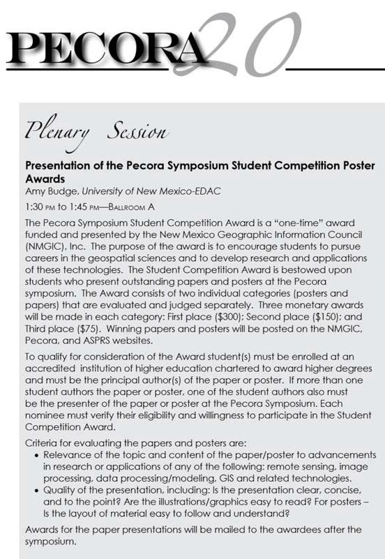 PECORA Awards