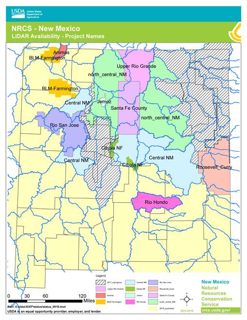 Fall 2018 – New Mexico LiDAR Status
