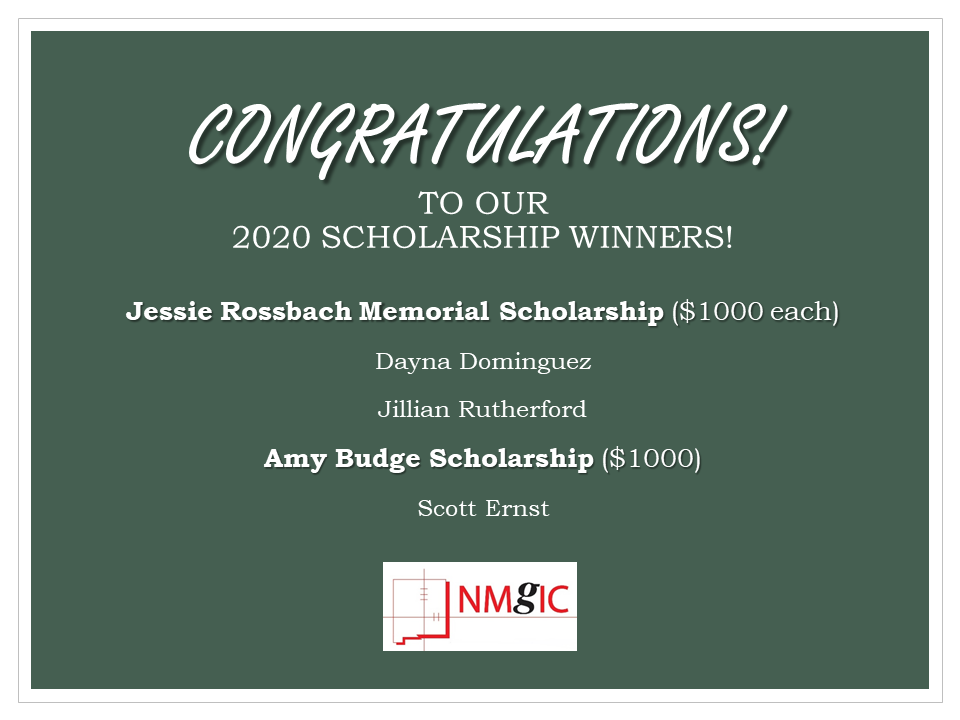 2020 NMGIC Scholarship Winners